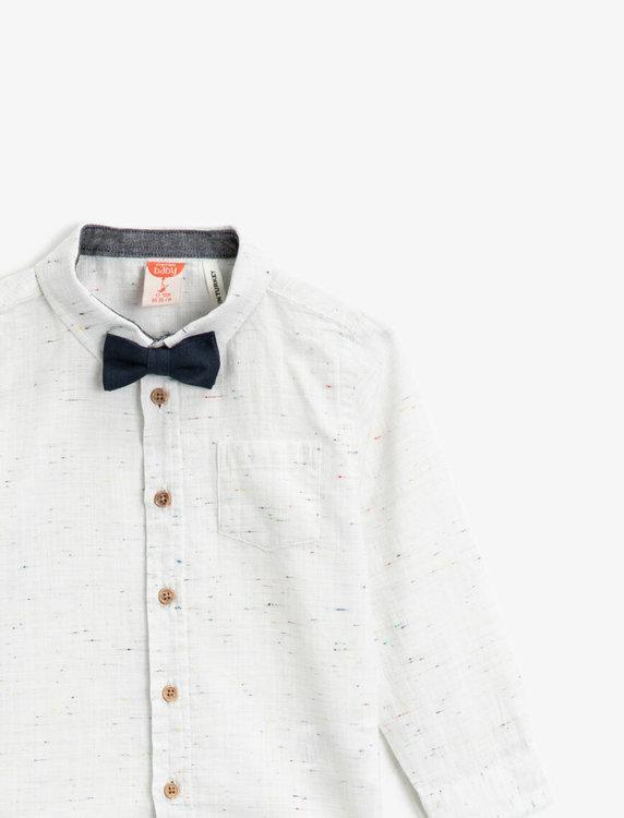 Skjorta med slips/fluga