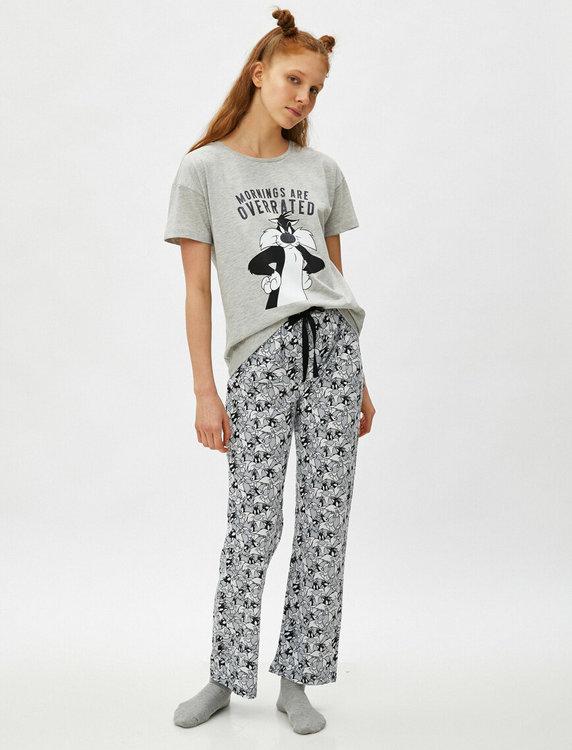 Looney Tunes Pyjamas med topp och byxa