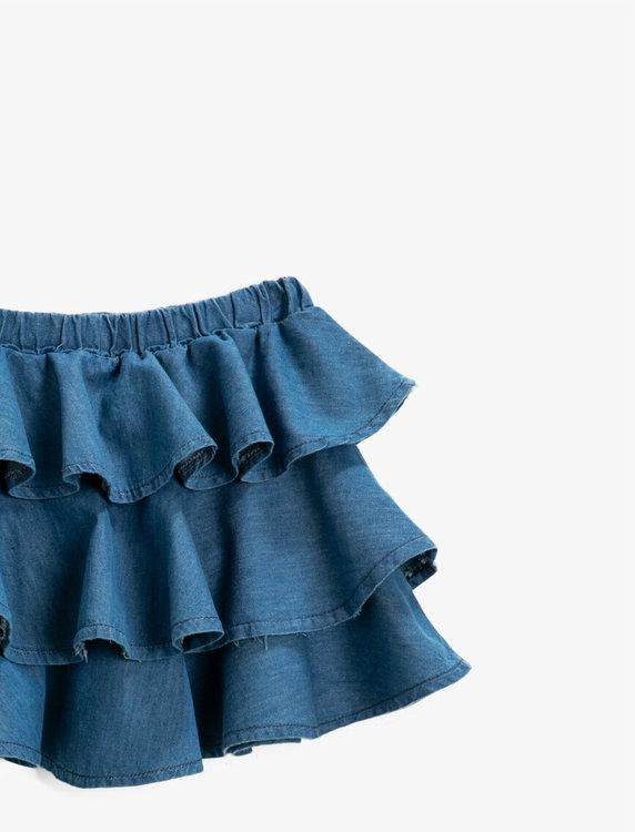 Kjol med volang