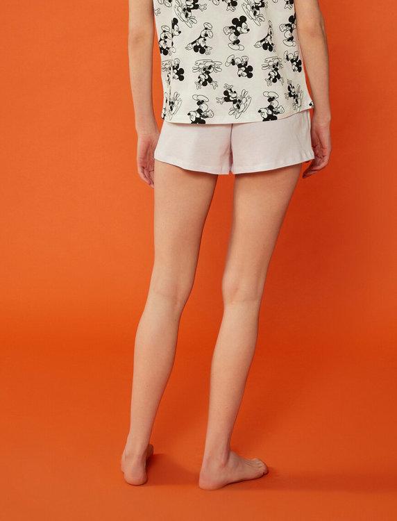 Mickey Mouse Pyjamas med topp och shorts