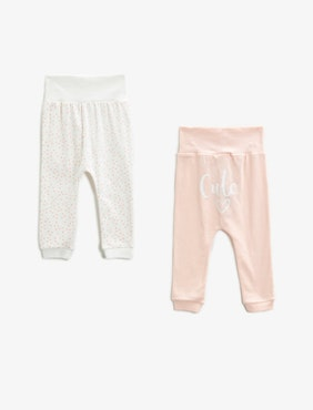 2-pack cotton trousers
