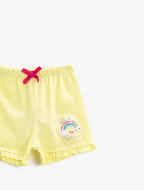 Shorts med tryck