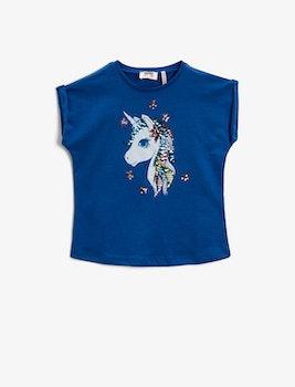 Unicorn T-shirt med paljetter