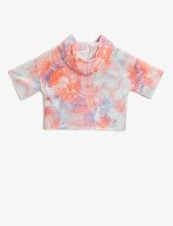 T-shirt med huva