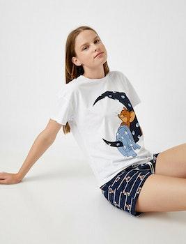 Warner Bros Pyjamas med topp och shorts