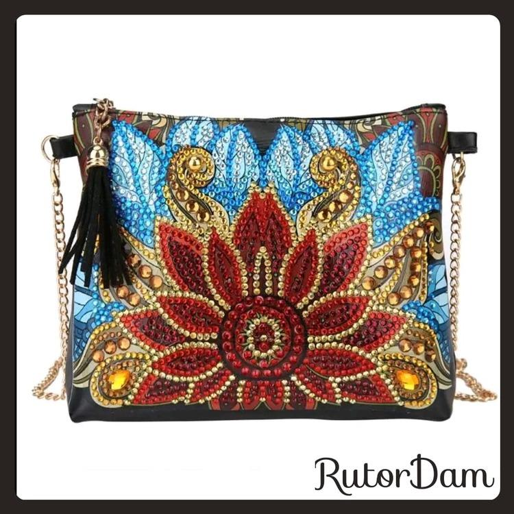Väska, Blomma 1 RutorDam Hobby