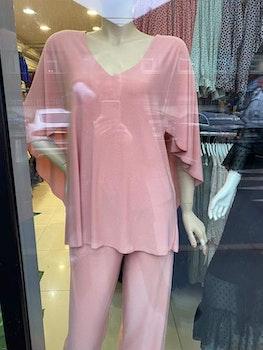 France Dress topp och vida byxor, rosa