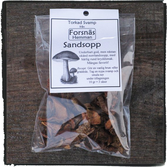 Torkad svamp 10 gr, 6 sorter