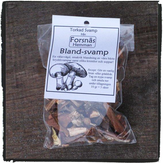 Torkad svamp- Blandsvamp