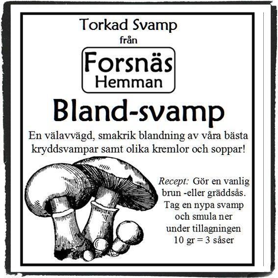 Presentlåda med Torkad Svamp