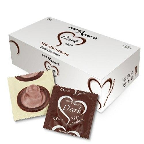 More Amore Dark Skin 100 Black Chocolate Condoms