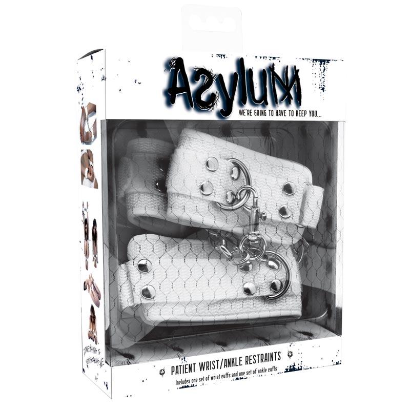 Asylum Patient WristAnkle Restraints White