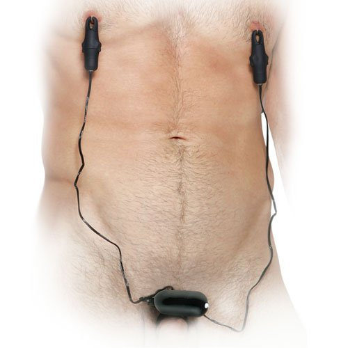 Vibrating Cockring with Nipple Clamps
