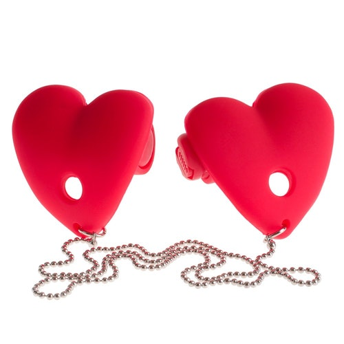 Vibrating Heart Pasties