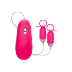 Pink Silicone Vibrating Nipple Pleasurizers