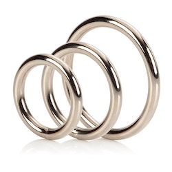 Silver Cock Ring Set