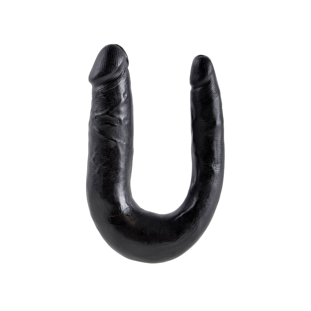 King Cock Medium Double Trouble Black Dildo