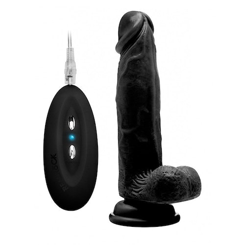 RealRock Vibrating Realistic Cock With Scrotum
