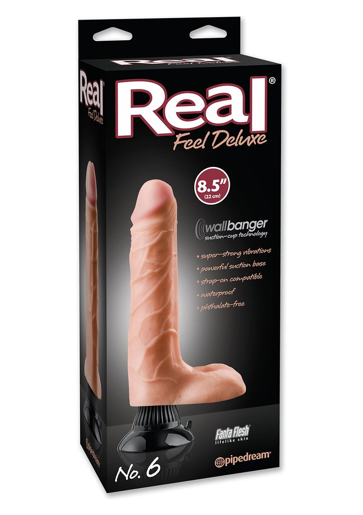 Real Feel Deluxe No 6 Flesh Penis Vibrator