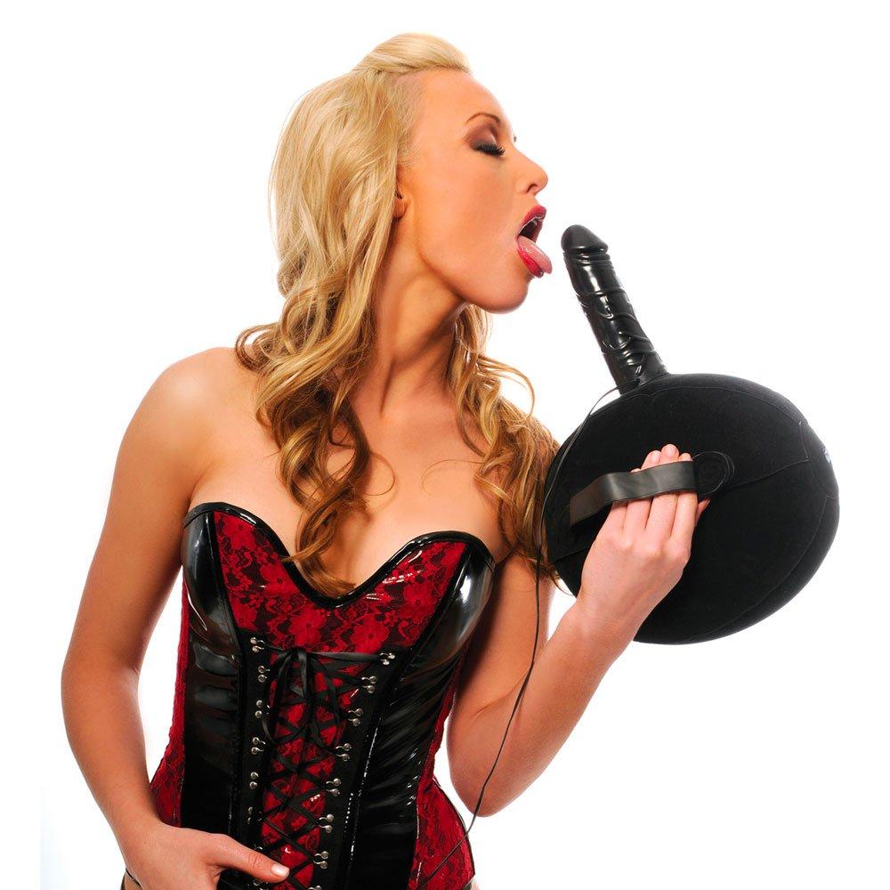 Vibrating Sex Ball with Dildo