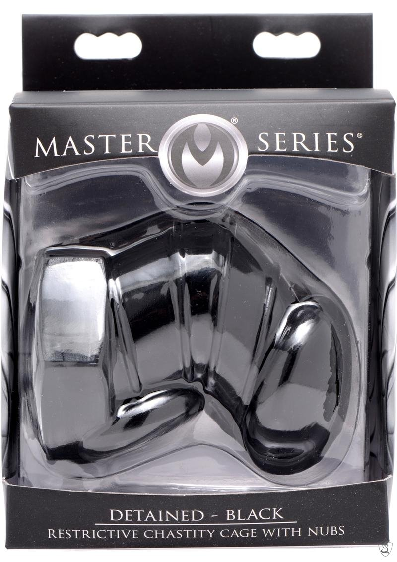 Master Series Detained Restrictive Chastity Cage with Nubs