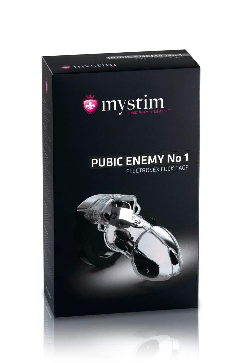 Mystim Pubic Enemy No 1 EStim Chastity Cock Cage