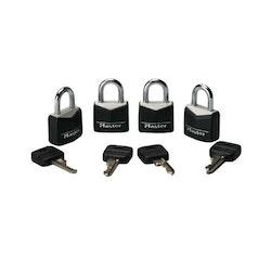 Steel Masterlocks 4 Pack