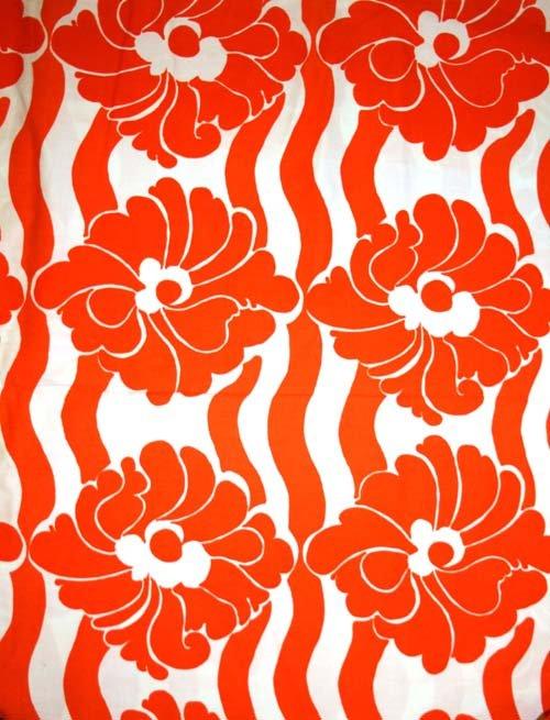 Tyg Orange blomranka Solskärm / Bältesmuddar