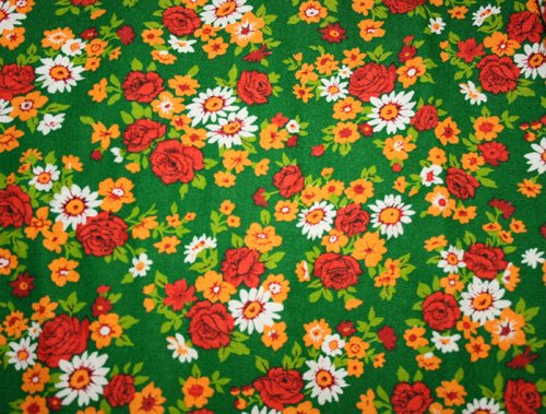 Tyg 70-tal Blommigt  Solskärm / Bältesmuddar