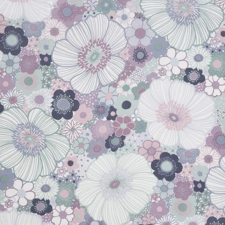 Tyg Lila blommor Solskärm / Bältesmuddar