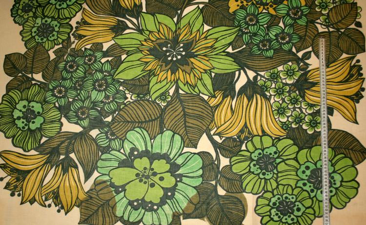 Tyg Retro Blommor i landet Solskärm / bältesmuddar