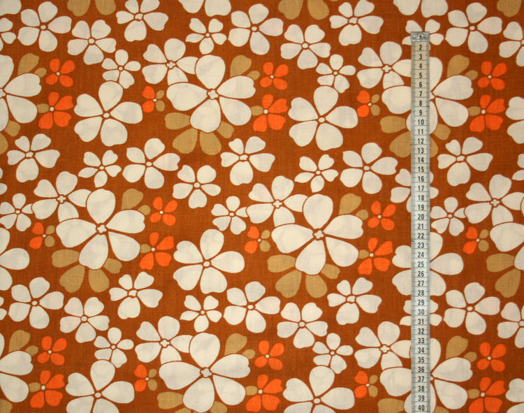 Tyg orange blommor Retro Solskärm / bältesmuddar