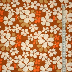 Tyg orange blommor Retro Solskydd barnvagn