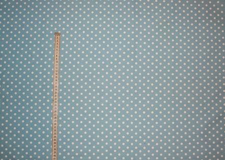 Tyg Blå linnelook med vita prickar Solskärm / Bältesmuddar