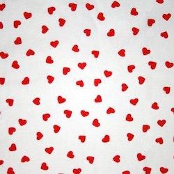 Tyg med röda hjärtan Solskärm / Bältesmuddar