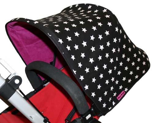 Tyger Stjärnor Solskydd barnvagn