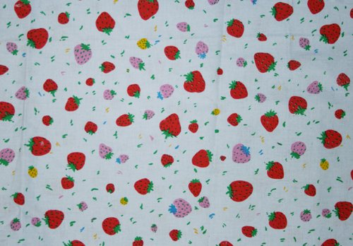 Tyg Ljusblått med jordgubbar Solskärm / bältesmuddar