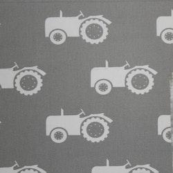 Tyg Grått med traktor / grolle Bältesmuddar