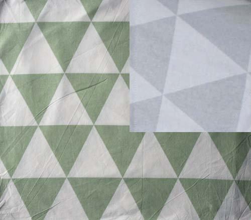 Tyg Trianglar 2 Färgalternativ Bältesmuddar