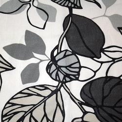 Tyg Grått och vitt blad Bältesmuddar