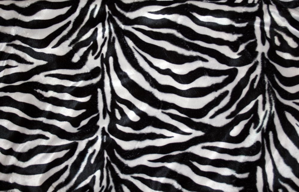 Zebra-mönstrat Gråvit/svart tyg Bältesmuddar