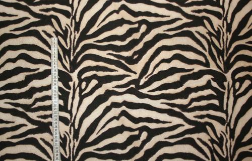 Zebra- beige/Brunsvart mönstrat tyg Bältesmuddar