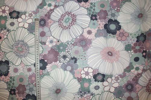 Tyg Lila blommor Bältesmuddar