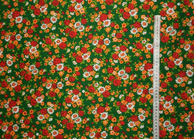Tyg 70-tal Blommigt Bältesmuddar