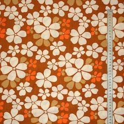 Tyg orange blommor Retro Bältesmuddar