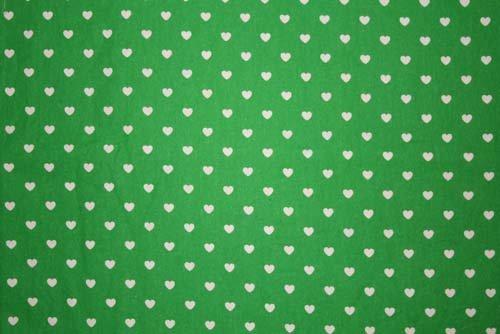 Tyg Grönt med vita hjärtan Bältesmuddar