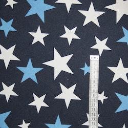 Vaxduk Marinblå med stjärnor Bältesmuddar