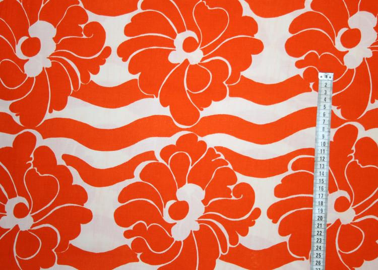Tyg Orange blomranka
