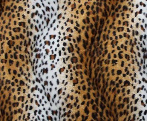 Tyg Leopard Sufflett/sittdyna