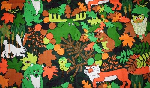 Tyg skogsmotiv
